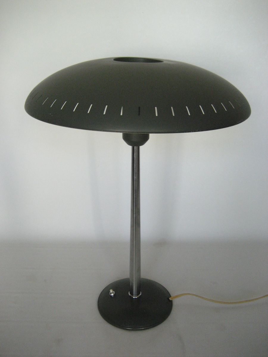 lampe de bureau timor mid century par louis kalff pour. Black Bedroom Furniture Sets. Home Design Ideas