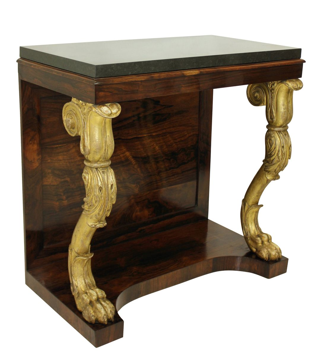 English regency rosewood gilt wood console table 1810s for sale 631000 geotapseo Gallery