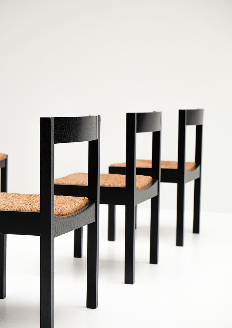 Vintage black ebonized dining chairs set of 6 for sale at for Black dining chairs for sale