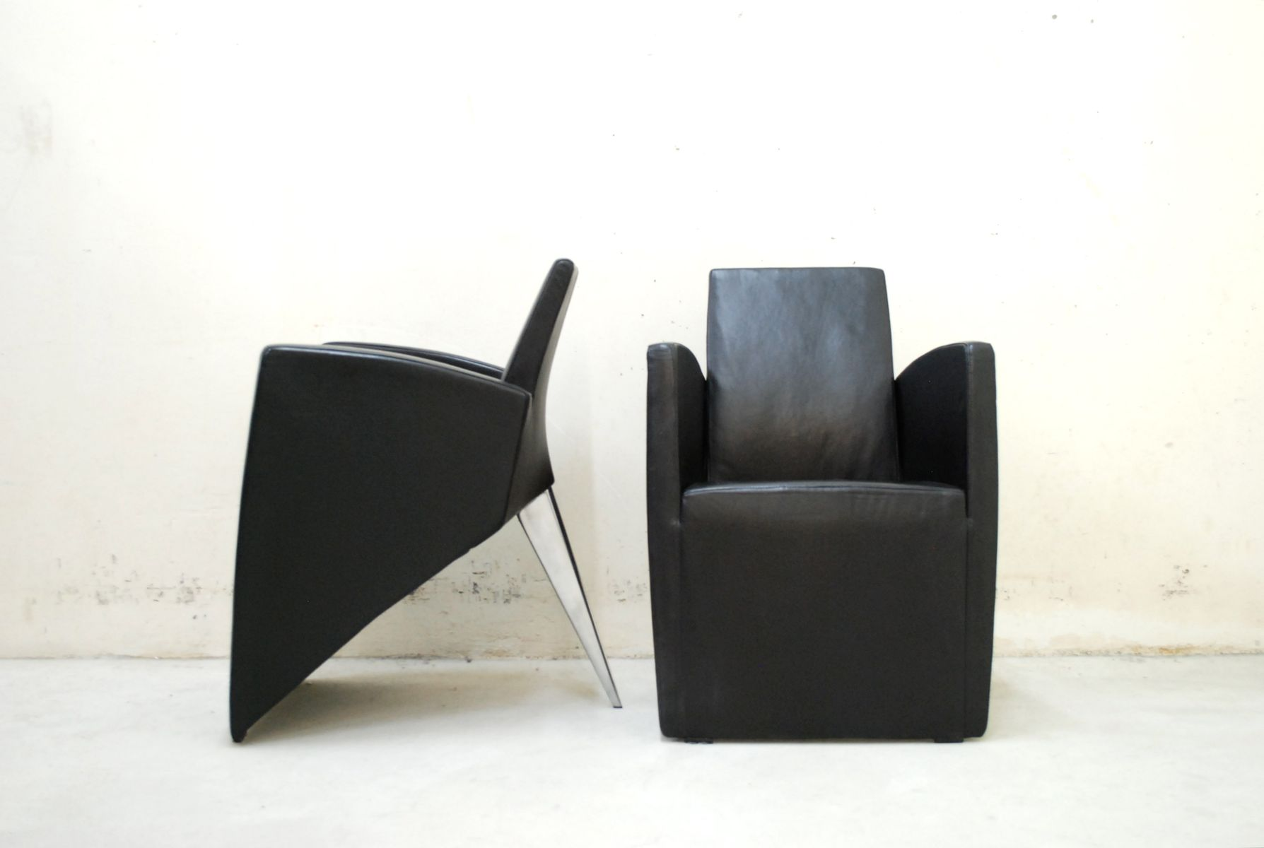 jack lang armchairs by philippe starck for driade aleph 1980s