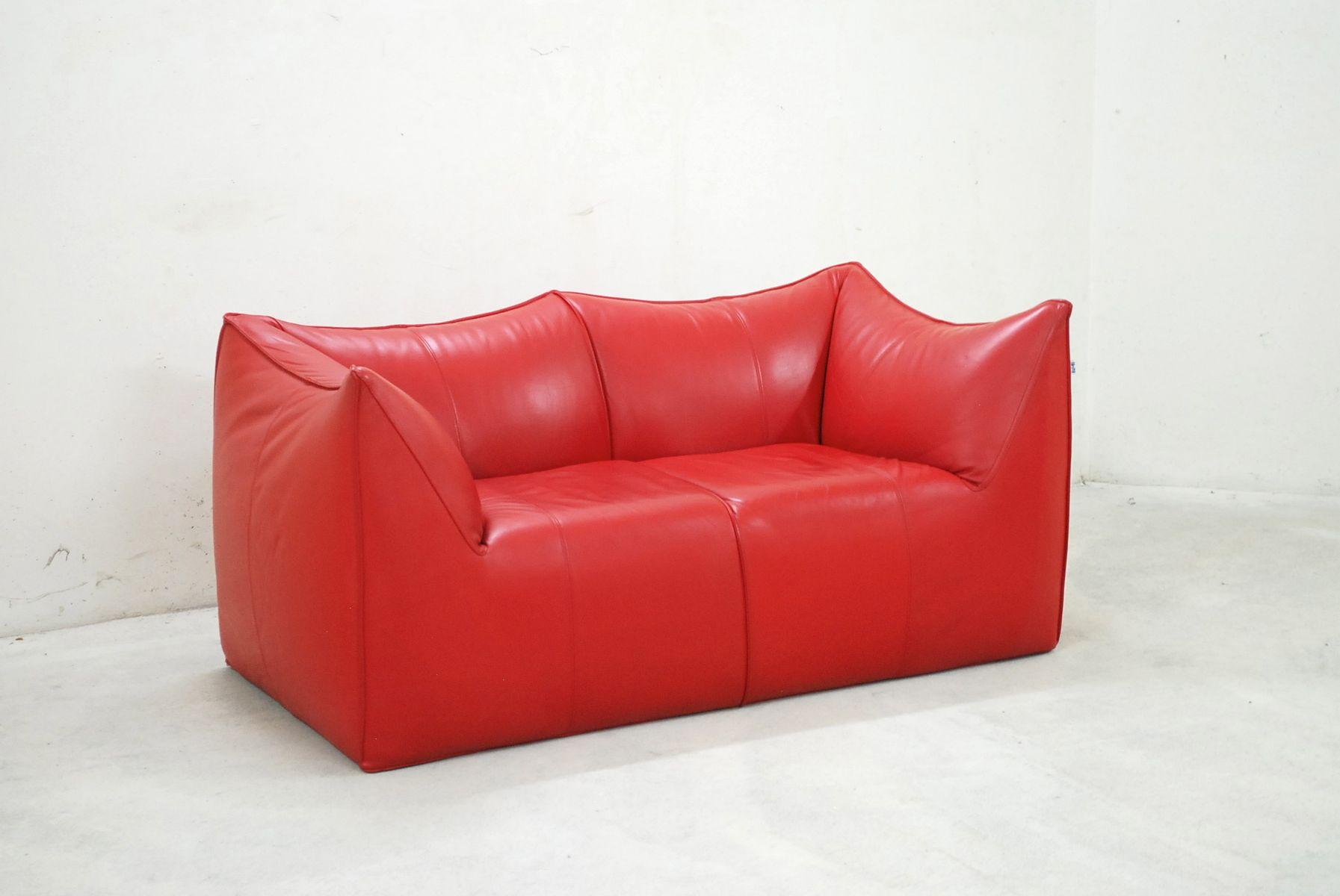 Italian Le Bambole Leather Sofa By Mario Bellini For B B Italia 1970s For Sale At Pamono