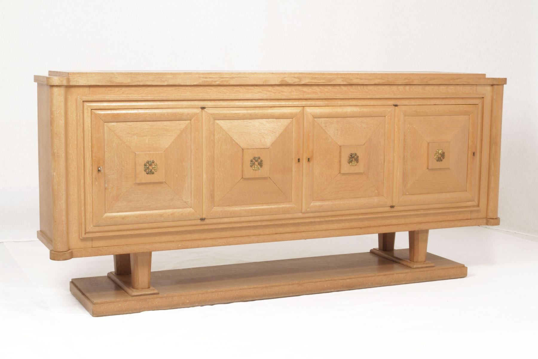 Art deco oak sideboard by gaston poisson for sale at pamono for Meuble art deco