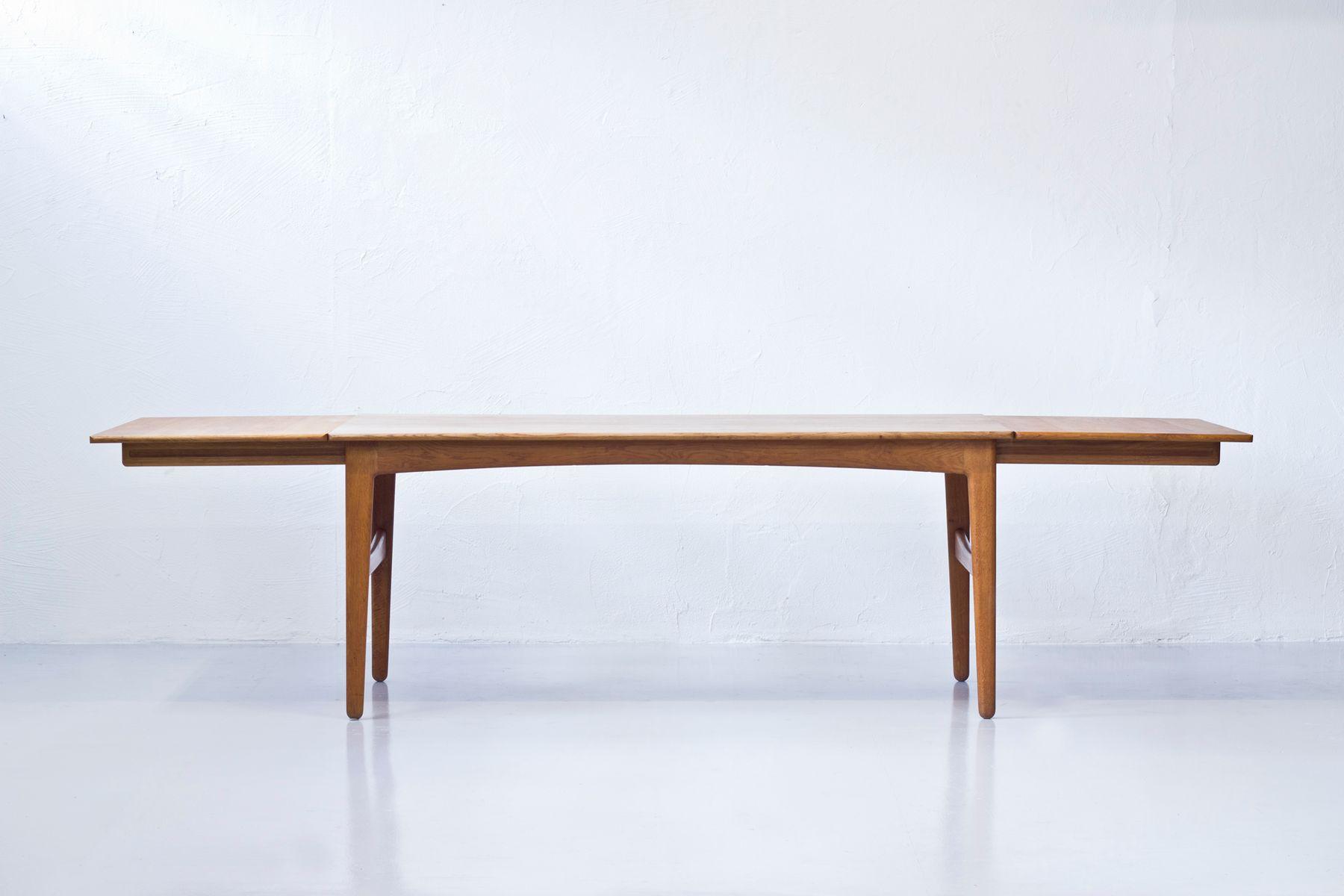 Danish oak dining table by knud andersen for j c a for Eichenholz esstisch