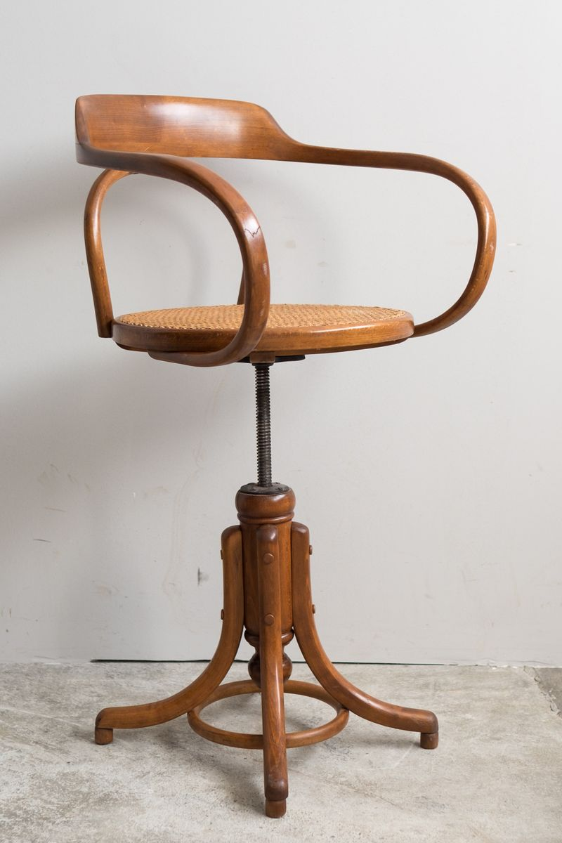Antique Bentwood Swivel Office Chair 1910s For Sale At Pamono
