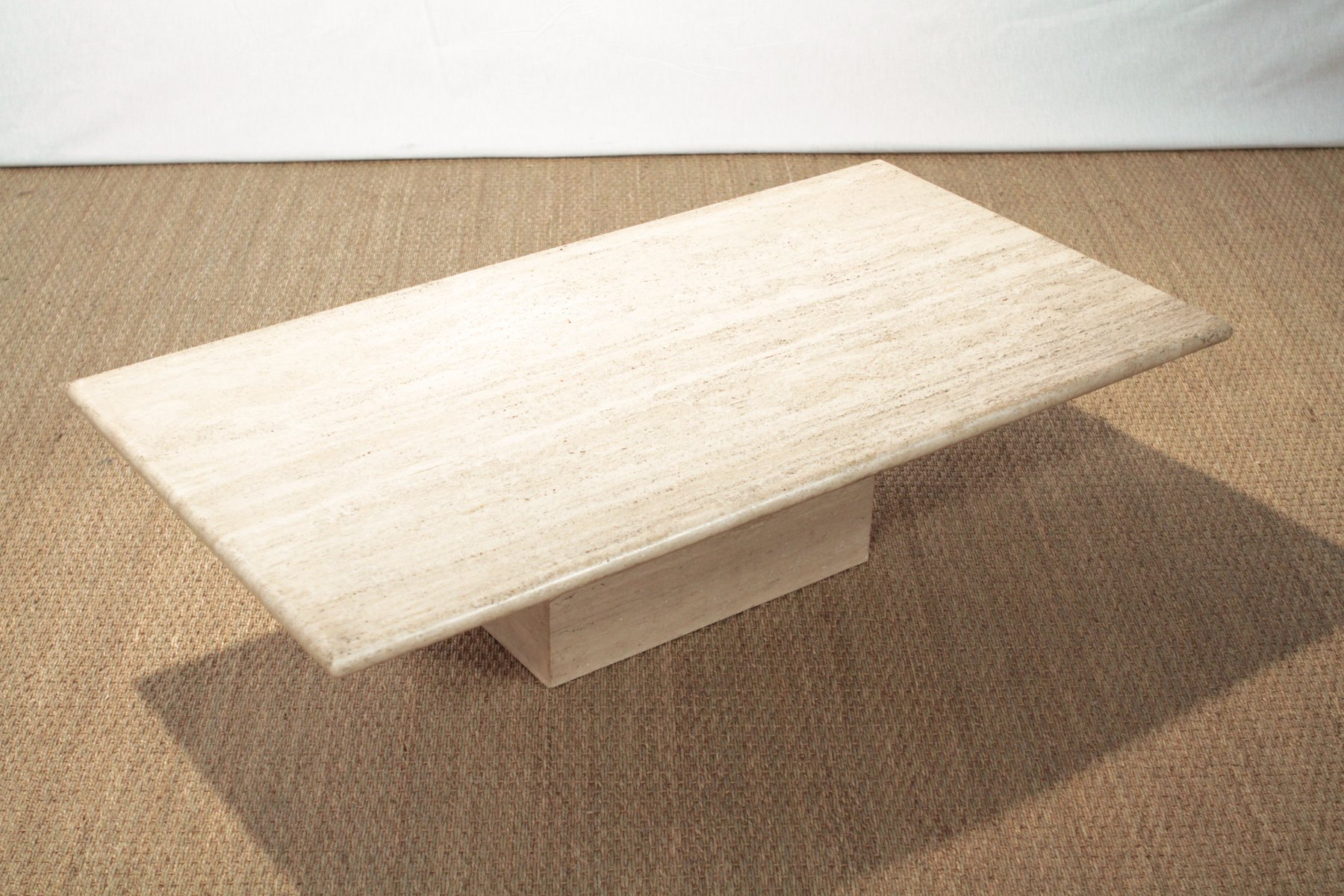 Vintage travertine coffee table for sale at pamono vintage travertine coffee table 6 106100 price per piece geotapseo Image collections