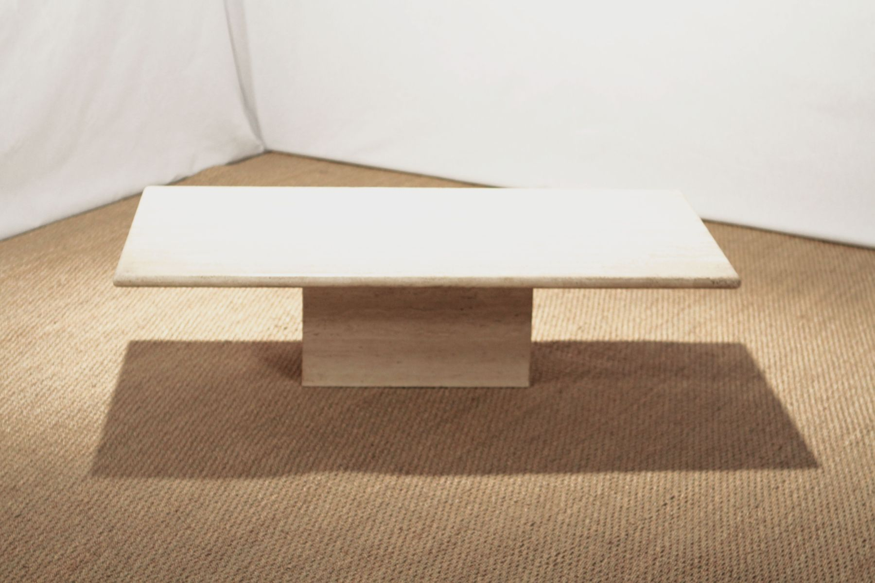 Vintage Travertine Coffee Table for sale at Pamono
