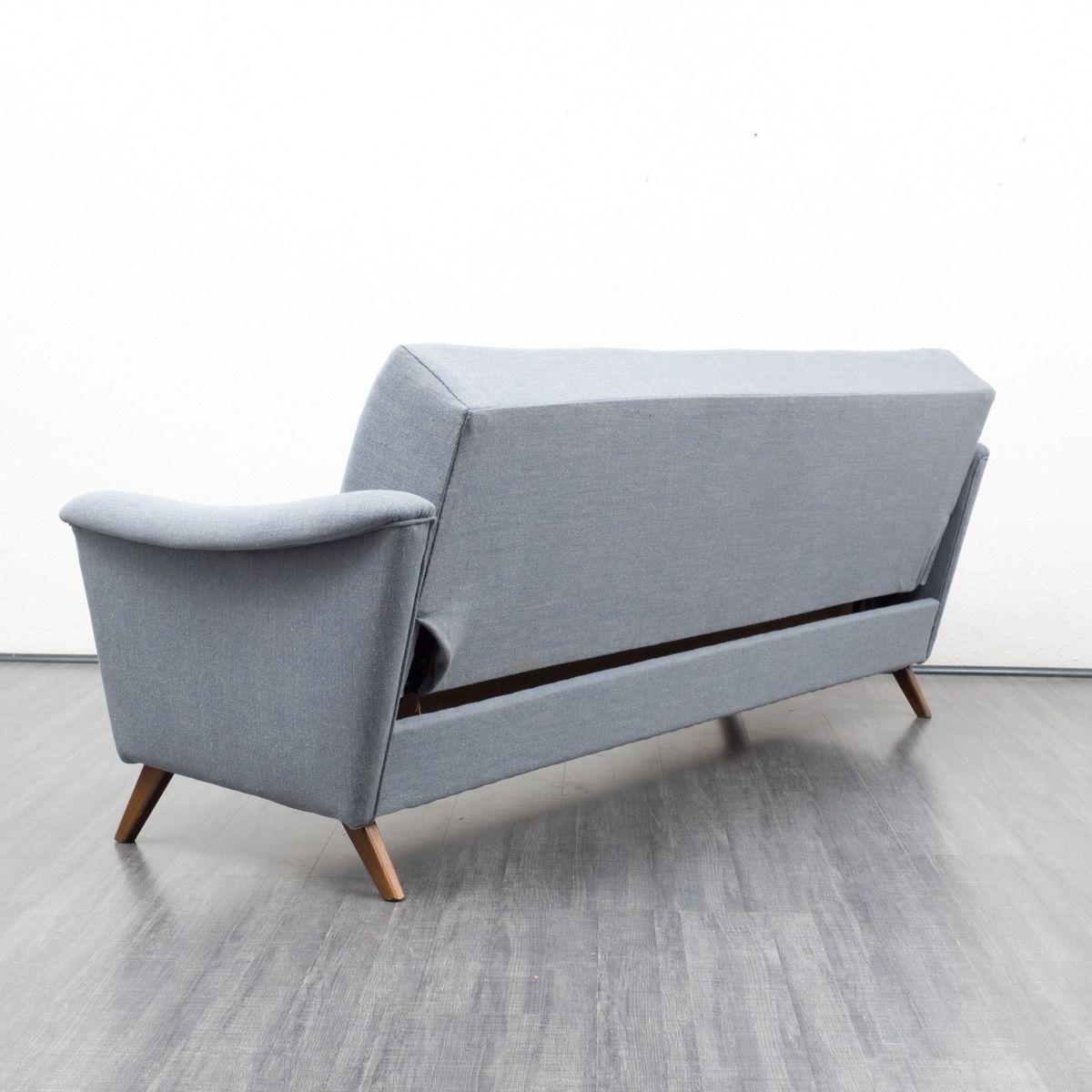 blaues vintage schlafsofa 1950er bei pamono kaufen. Black Bedroom Furniture Sets. Home Design Ideas