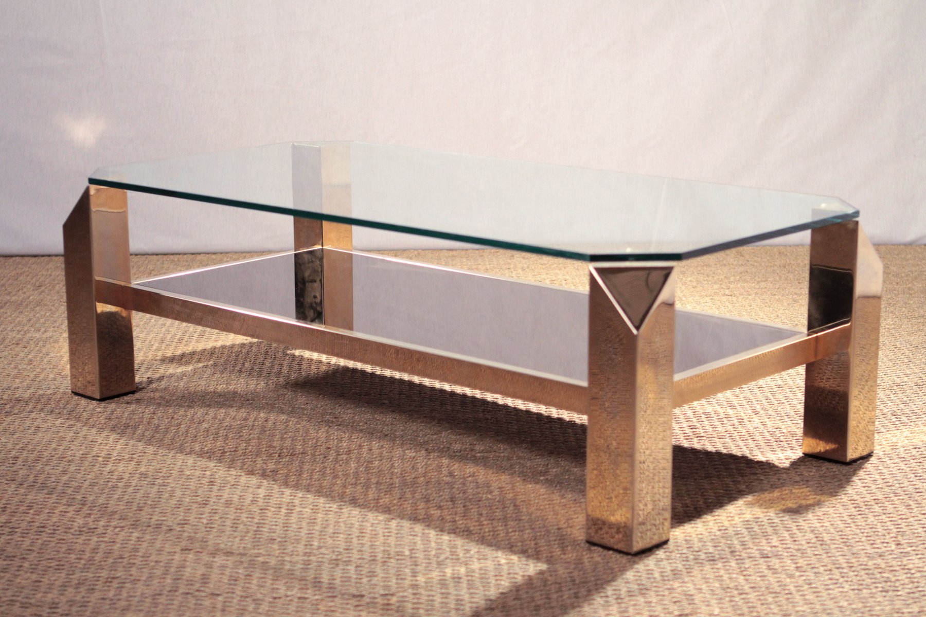 Elegant Gilded Coffee Table From Belgochrom, 1970s 8. $1,386.00. Price Per Piece