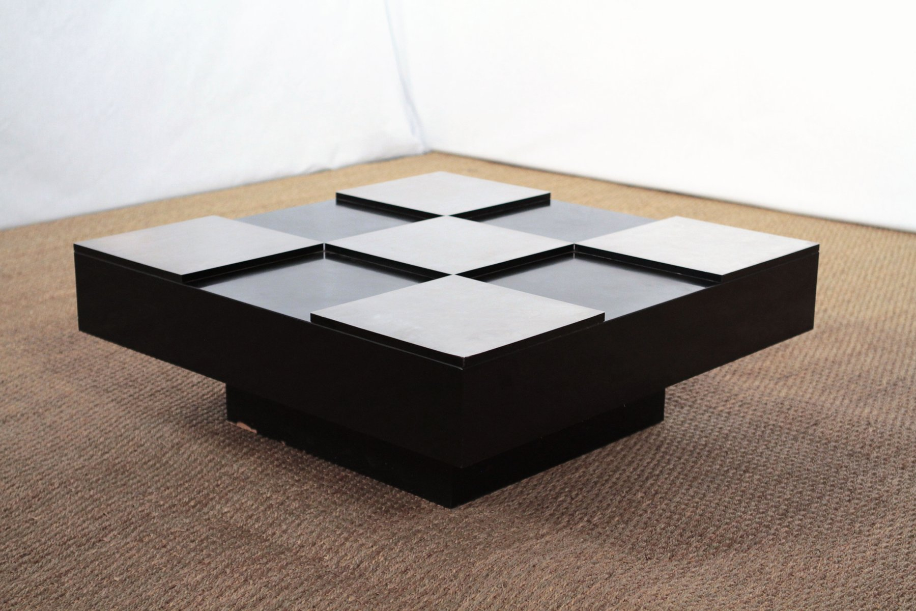 Dammier Coffee Table By Willy Rizzo 1970s For Sale At Pamono
