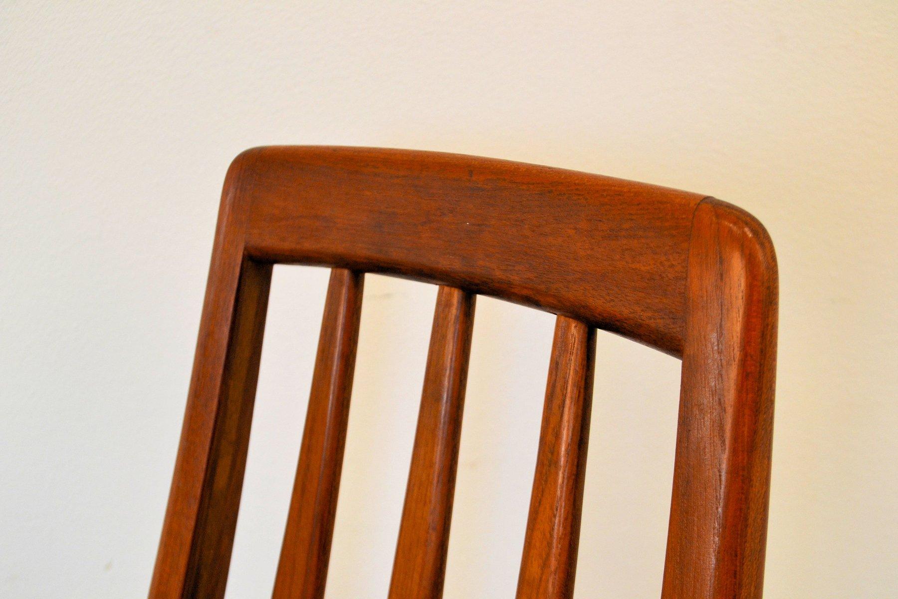 danish eva teak chairs by niels koefoeds for koefoeds hornslet 1960s