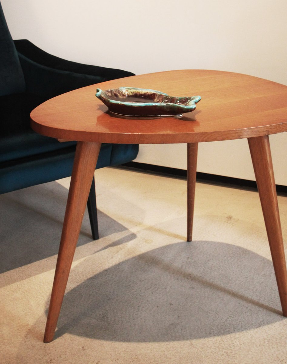 Wooden Tripod Coffee Table 1950s For Sale At Pamono