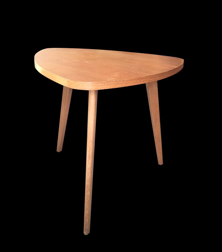 wooden tripod coffee table, 1950s for sale at pamono