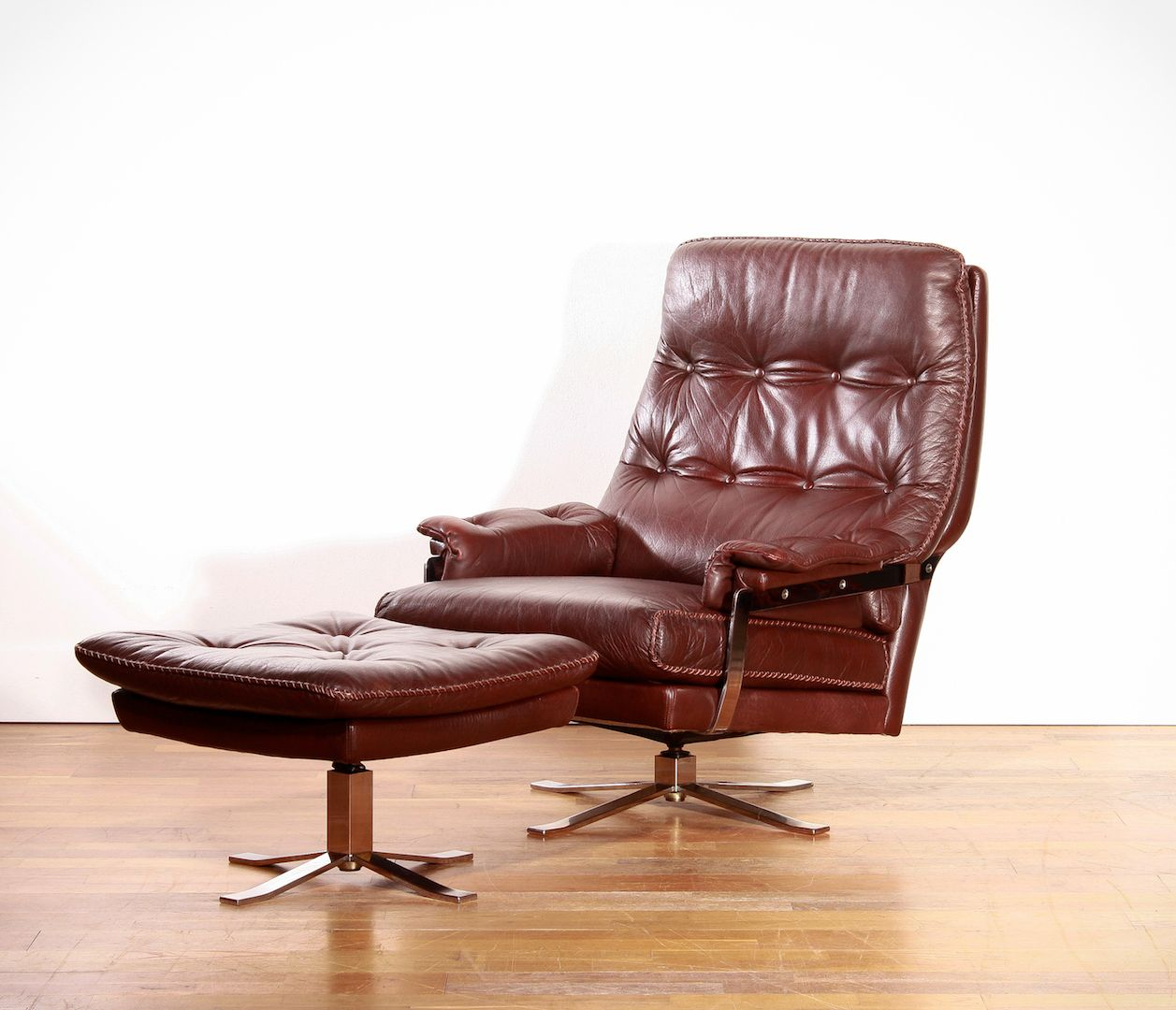 Lounge Chair & Ottoman by Arne Norell for Vatne Møbler 1960s for sale at