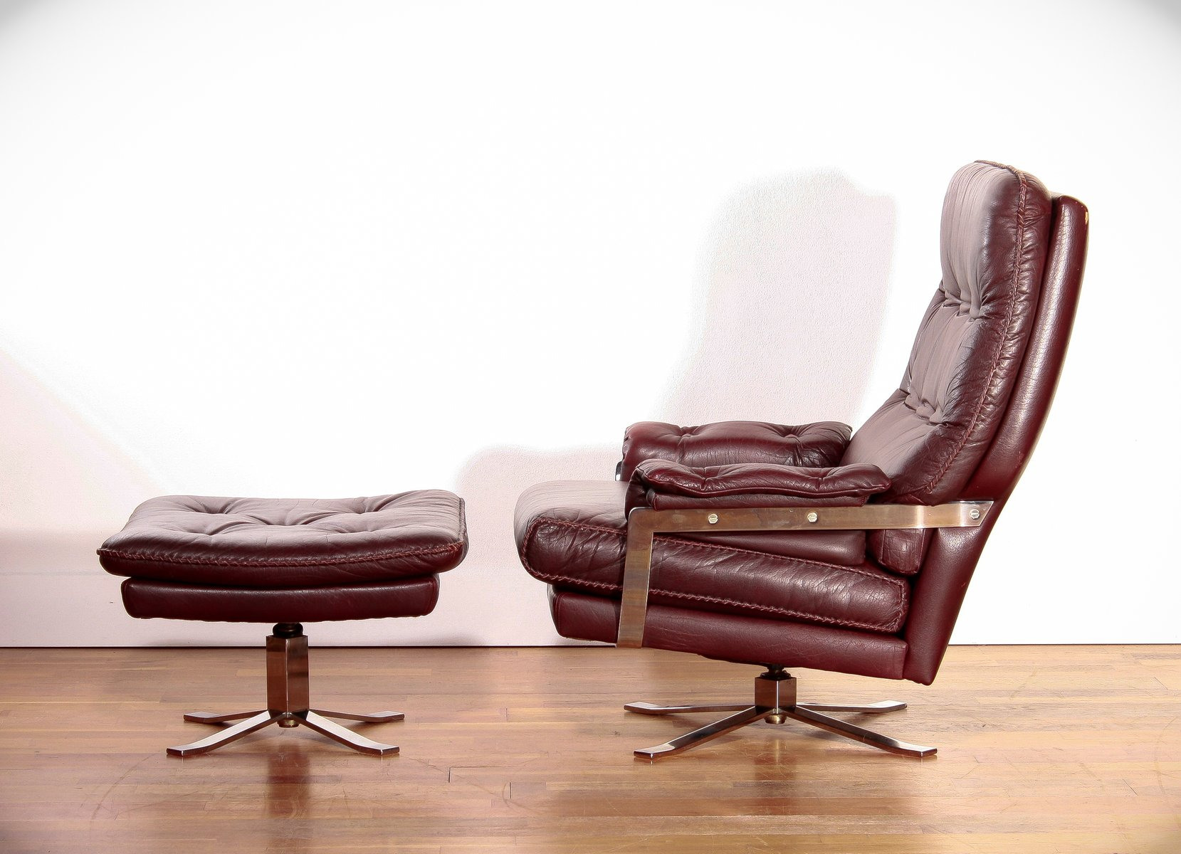 Lounge Chair & Ottoman by Arne Norell for Vatne M¸bler 1960s for