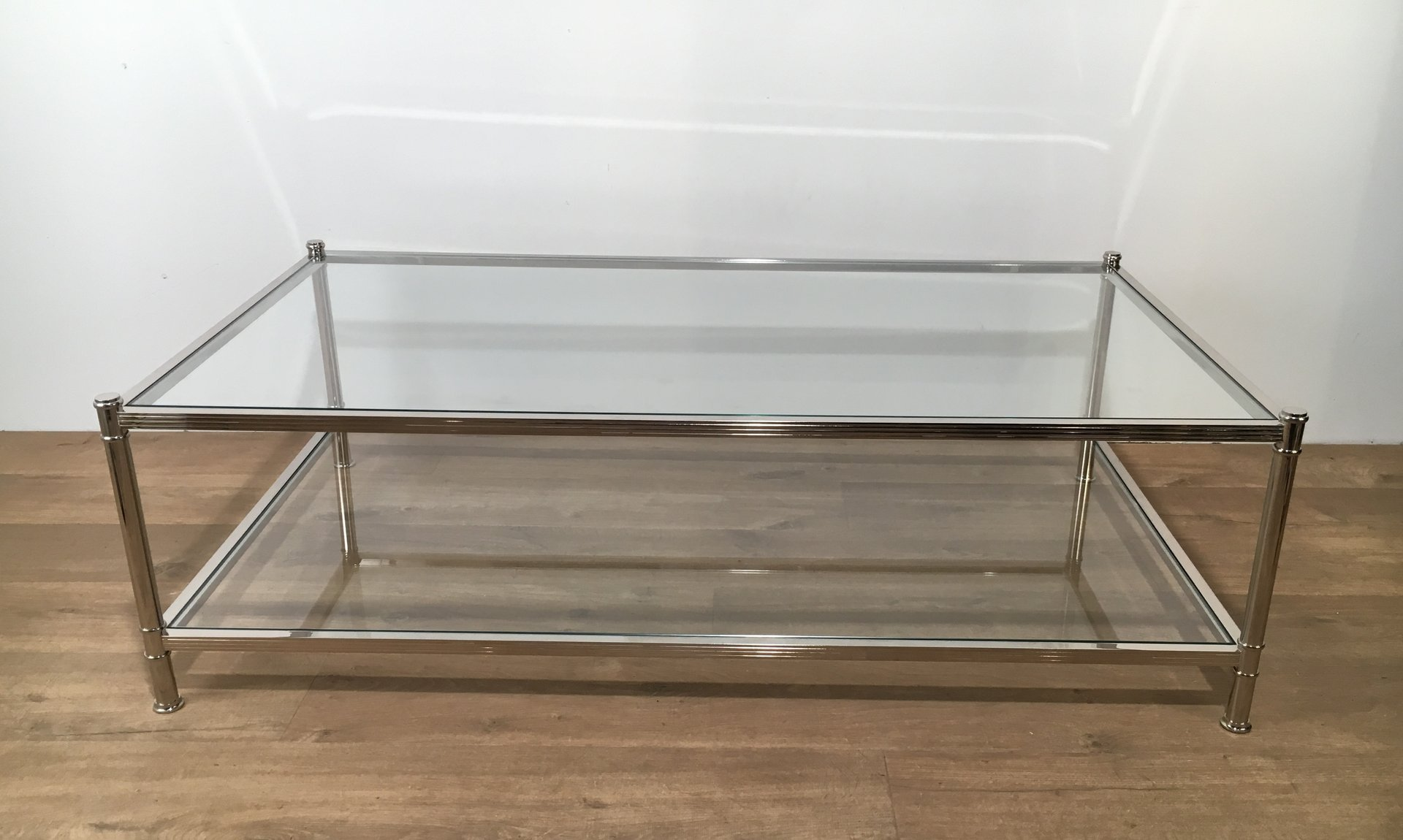 Large chrome coffee table from roche bobois 1970s for sale at pamono Roche bobois coffee table
