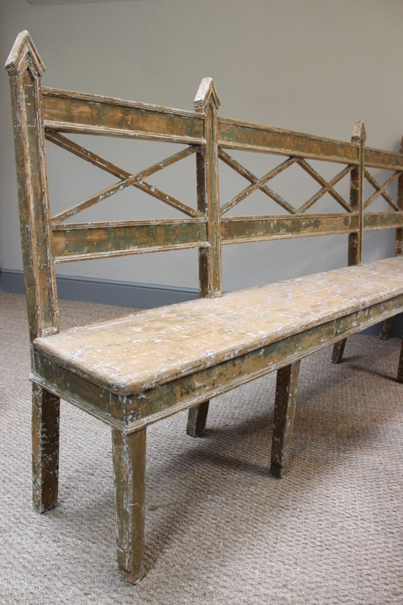 Antique Swedish Painted Bench For Sale At Pamono