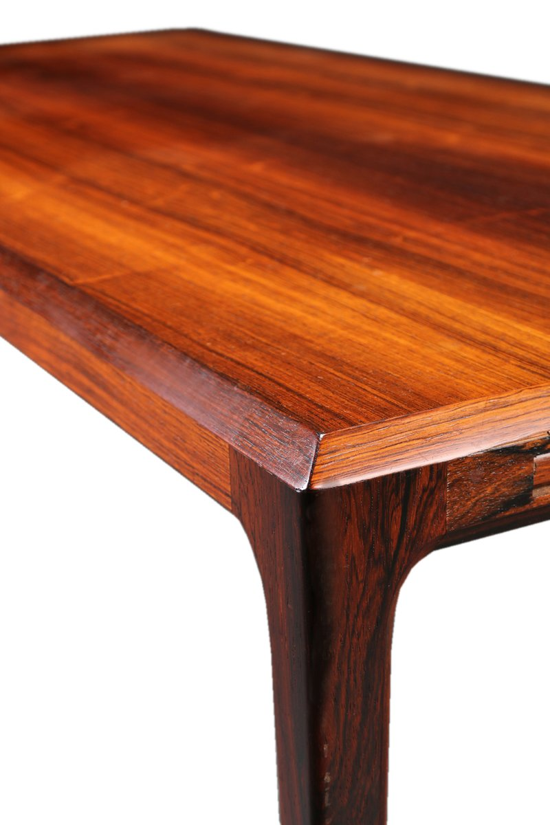 Captivating Extendable XL Mid Century Brazilian Rosewood Coffee Table By Johannes  Andersen For CFC Silkeborg