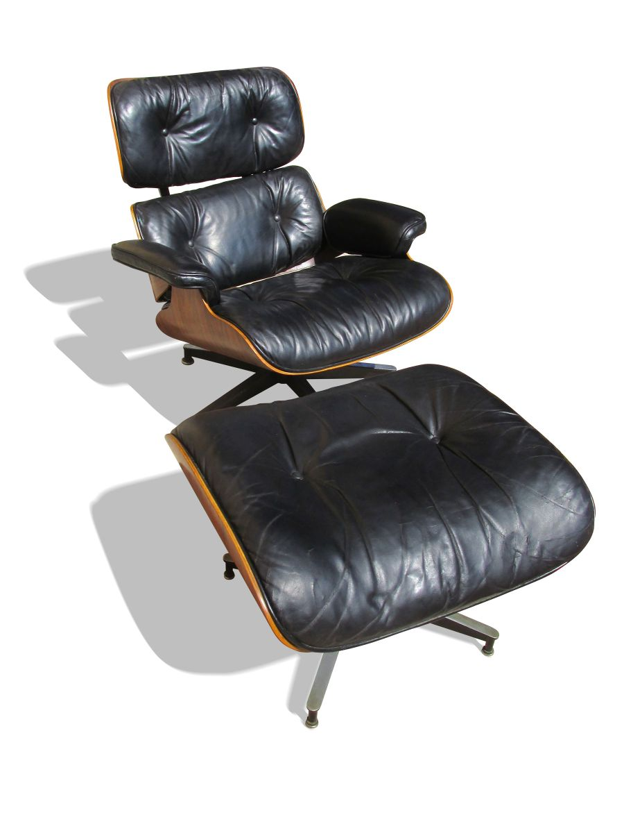 670 671 lounge chair and ottoman by charles and ray eames for Eames sessel nachbau
