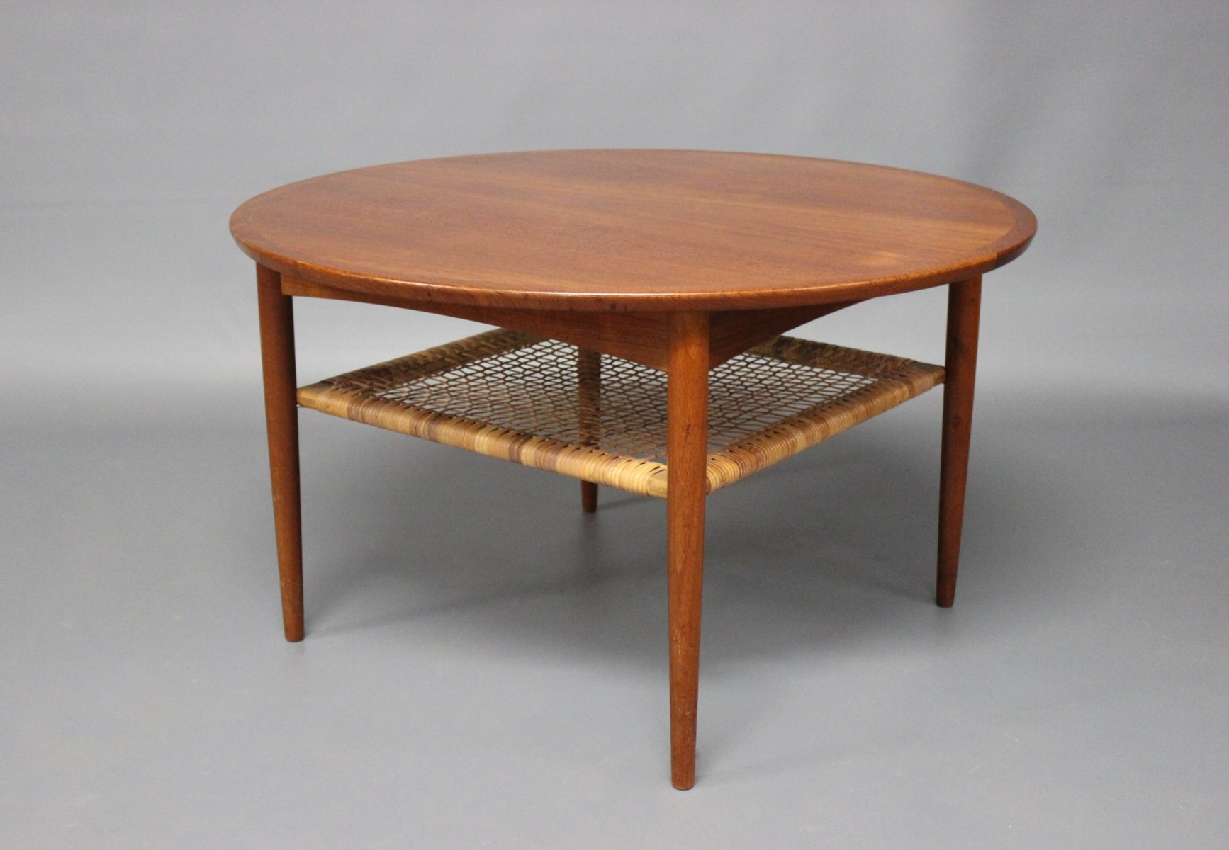 Teak Coffee Table With Cord Shelf From M Belintarsia 1960s For Sale At Pamono
