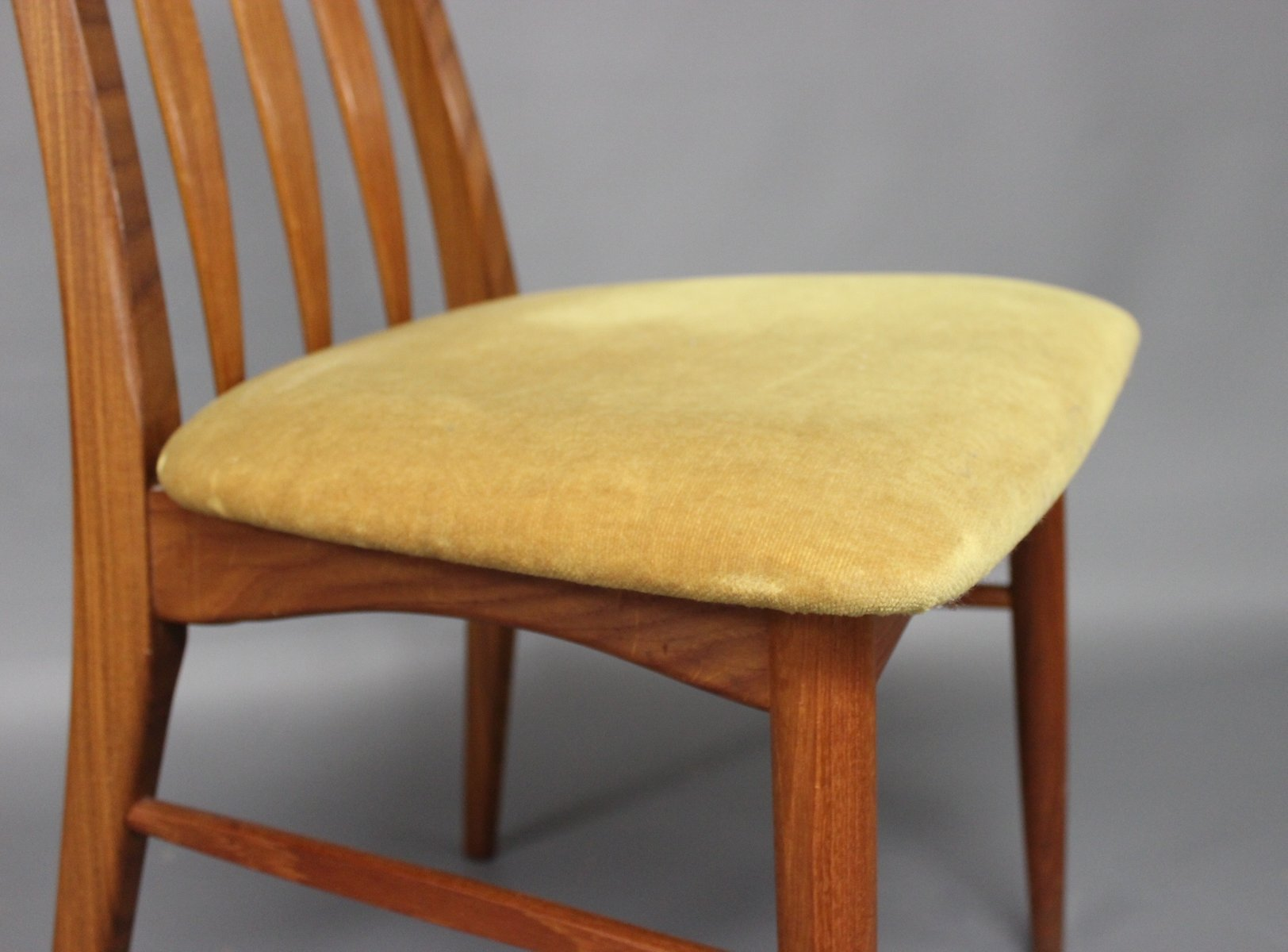 Eva Teak Dining Chairs by Niels Koefoed 1960s Set of 6 for sale
