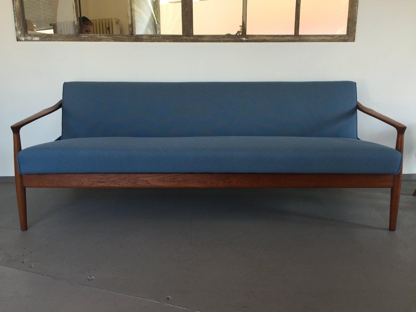 d nisches 3 sitzer sofa aus teakholz bei pamono kaufen. Black Bedroom Furniture Sets. Home Design Ideas
