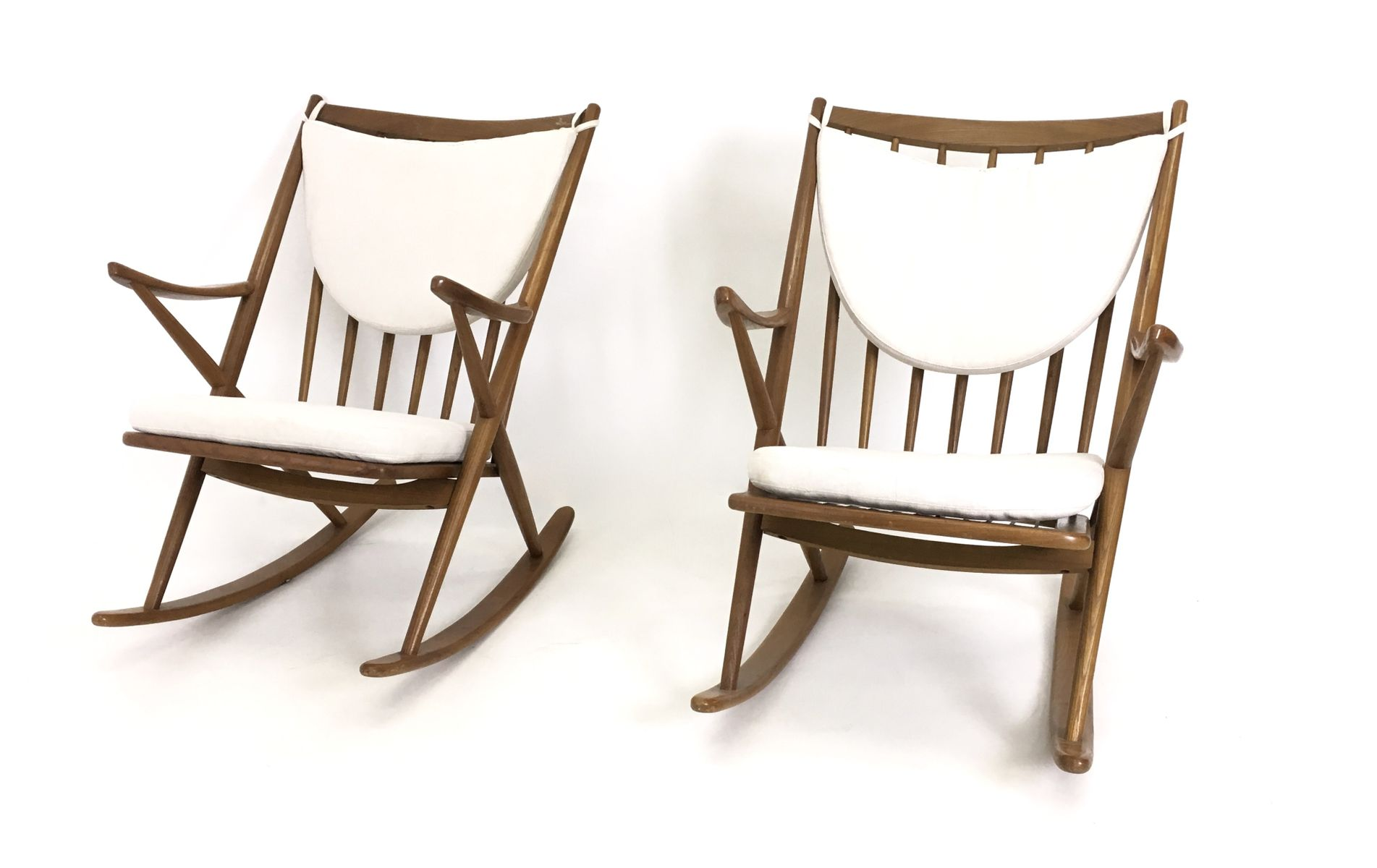 Mid Century Rocking Chairs by Frank Reenskaug for Bramin Set of 2