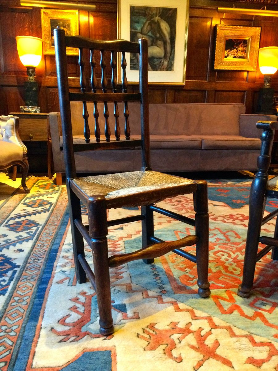 Antique Oak Farmhouse Chairs Set of 2 for sale at Pamono