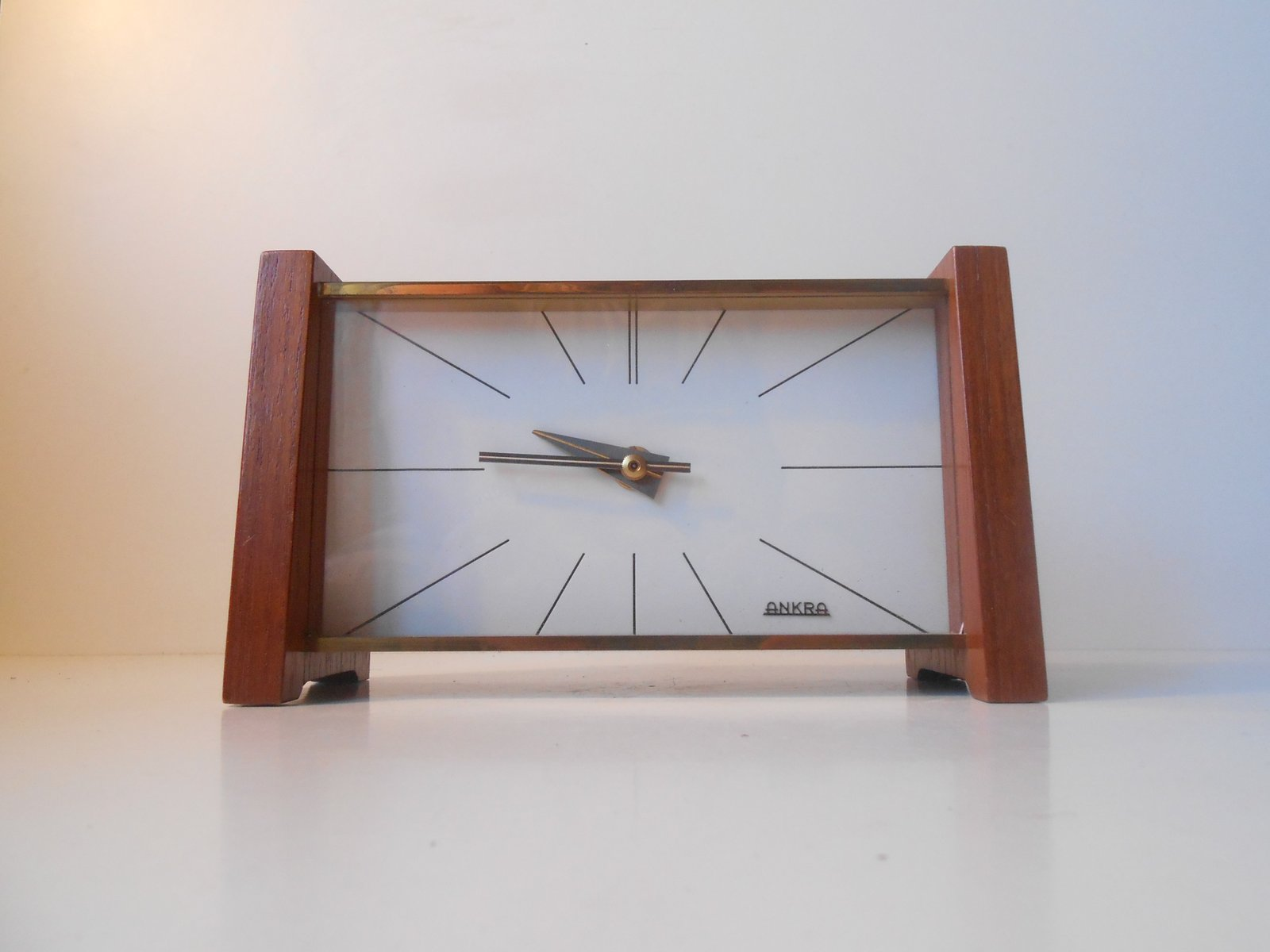 midcentury modern table clock from ankra for sale at pamono - midcentury modern table clock from ankra