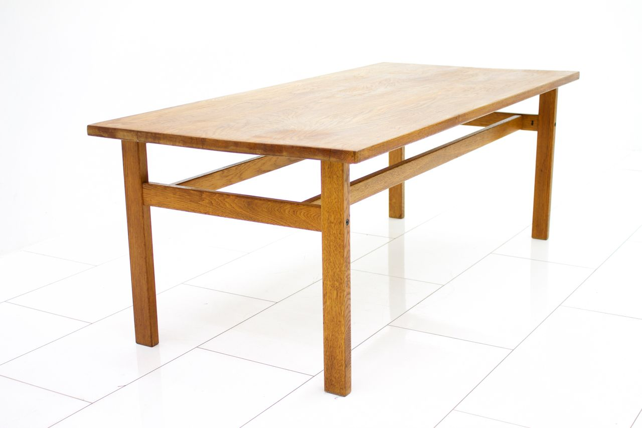 Oak Coffee Table By Hans J Wegner 1960s For Sale At Pamono