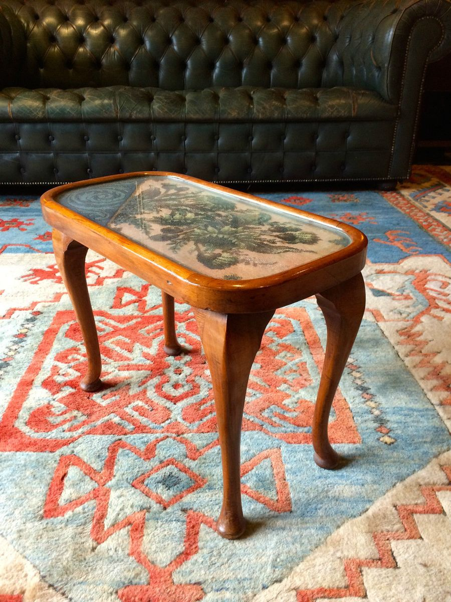 Small Antique Victorian Glazed Mahogany Coffee Table For Sale At