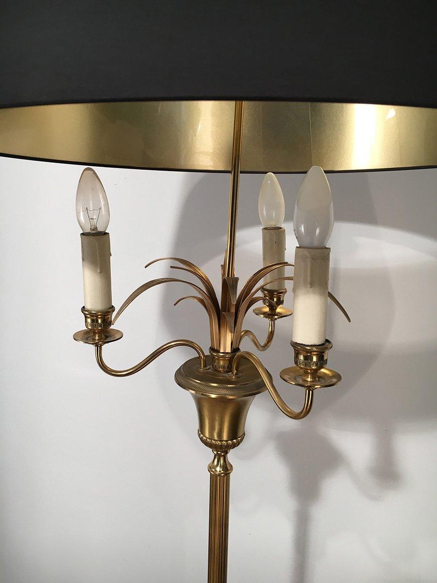 Three-Light Brass Floor Lamp, 1940s for sale at Pamono