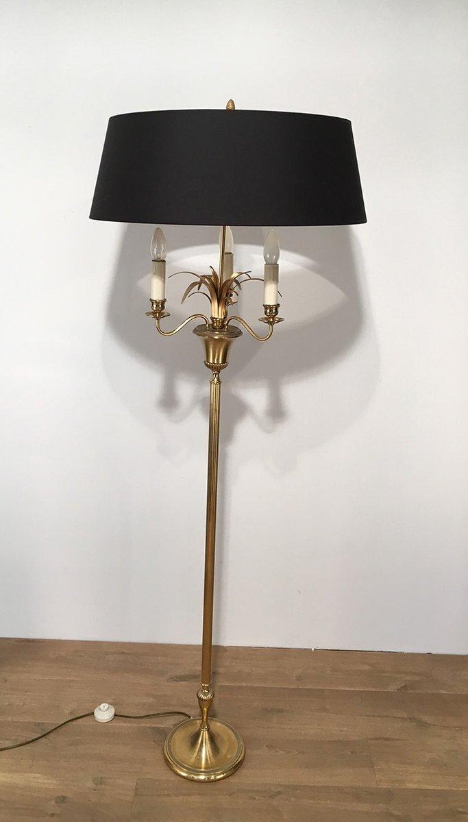Three light brass floor lamp 1940s for sale at pamono for Hyatt 6 light floor lamp brass
