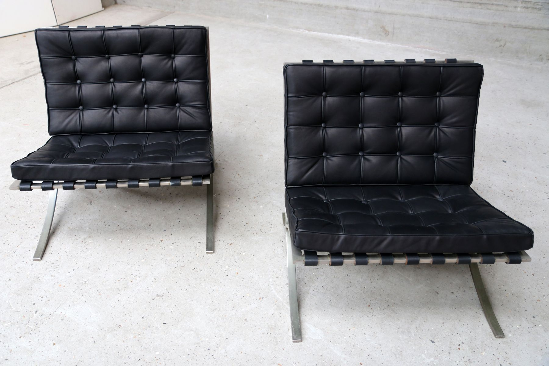 Vintage Barcelona Chairs By Ludwig Mies Van Der Rohe For