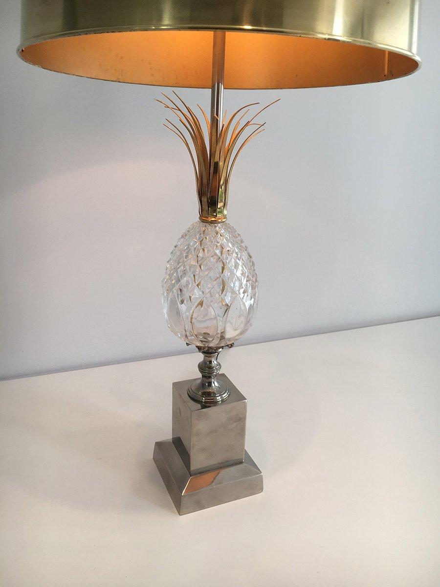 tischlampe mit ananas aus glas 1960er bei pamono kaufen. Black Bedroom Furniture Sets. Home Design Ideas