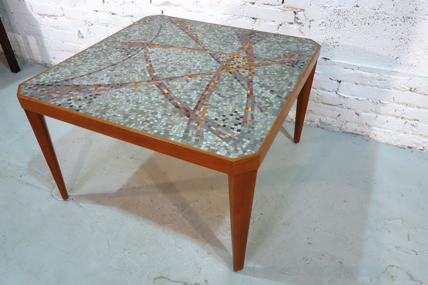 German Mosaic Coffee Table, 1960