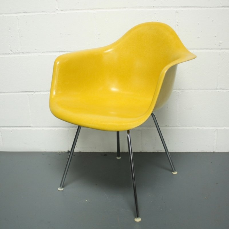 Canary Yellow Dax Armchair By Charles And Ray Eames For
