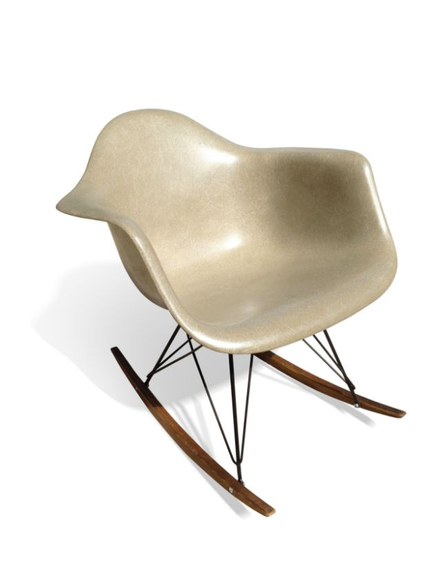 beige rar rocking chair by charles ray eames for herman miller 1970