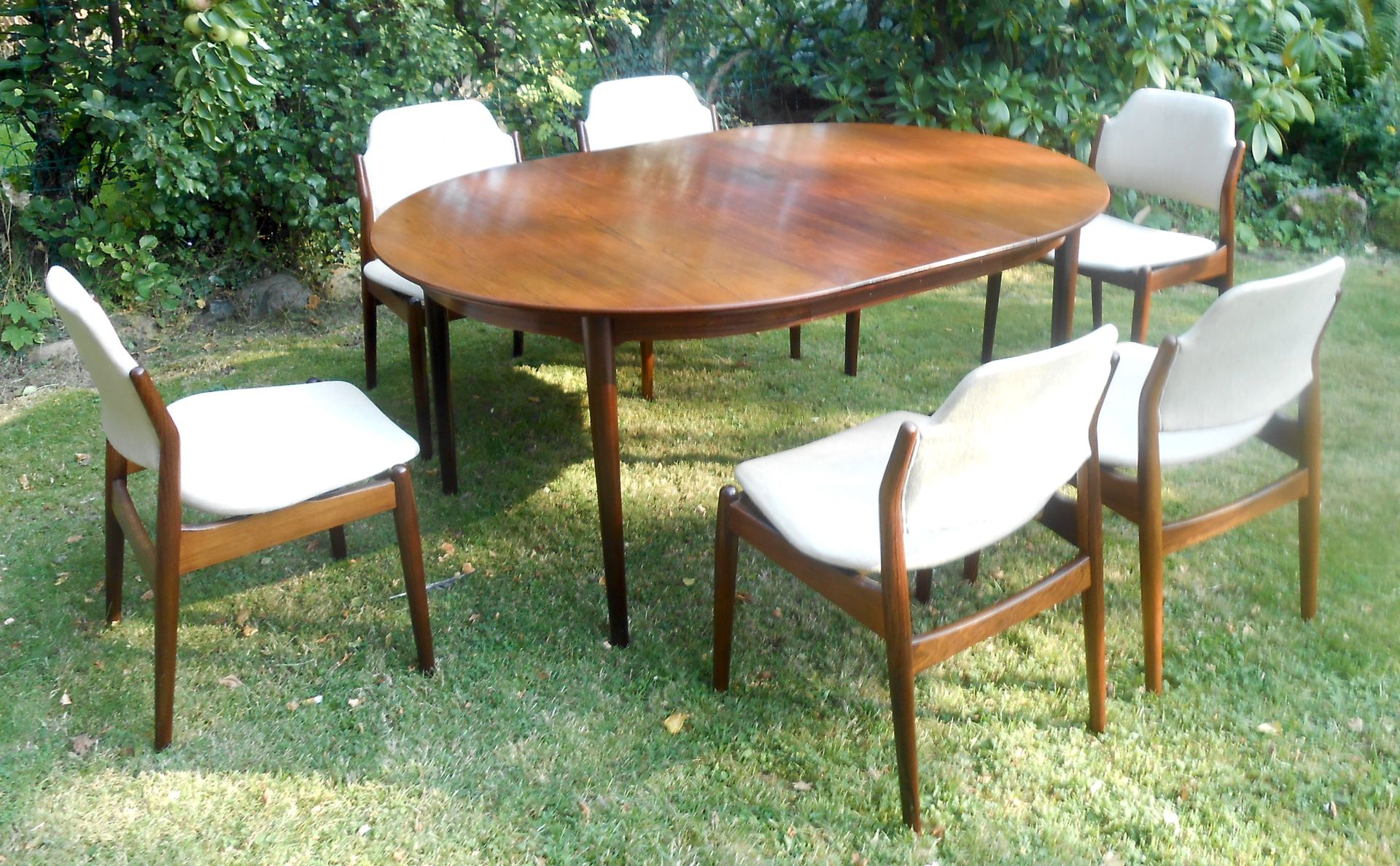 Details about 48 inch round formal duncan phyfe rosewood dining table - Rosewood Dining Set By Arne Vodder For Sibast 1960s For Sale At