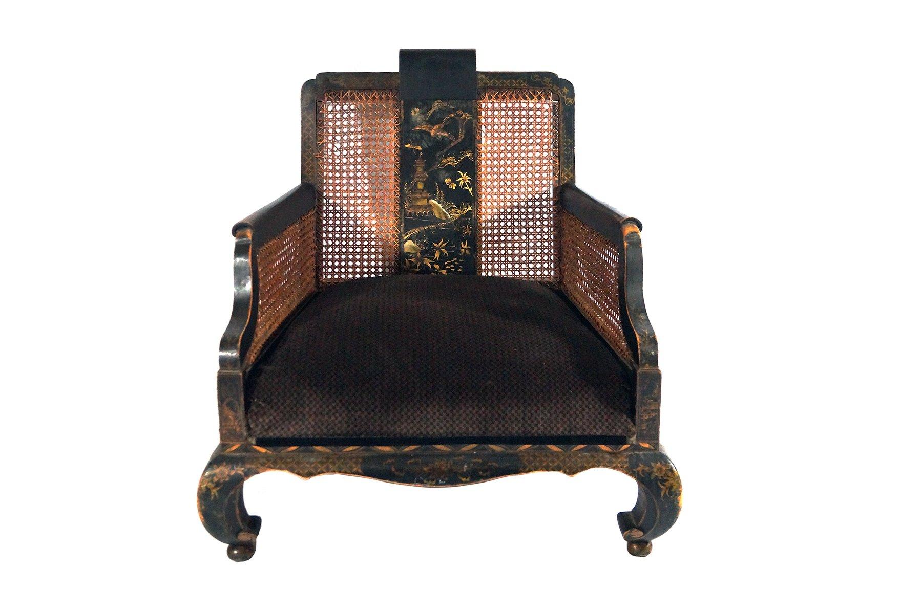 antiker handbemalter chinesischer sessel bei pamono kaufen. Black Bedroom Furniture Sets. Home Design Ideas