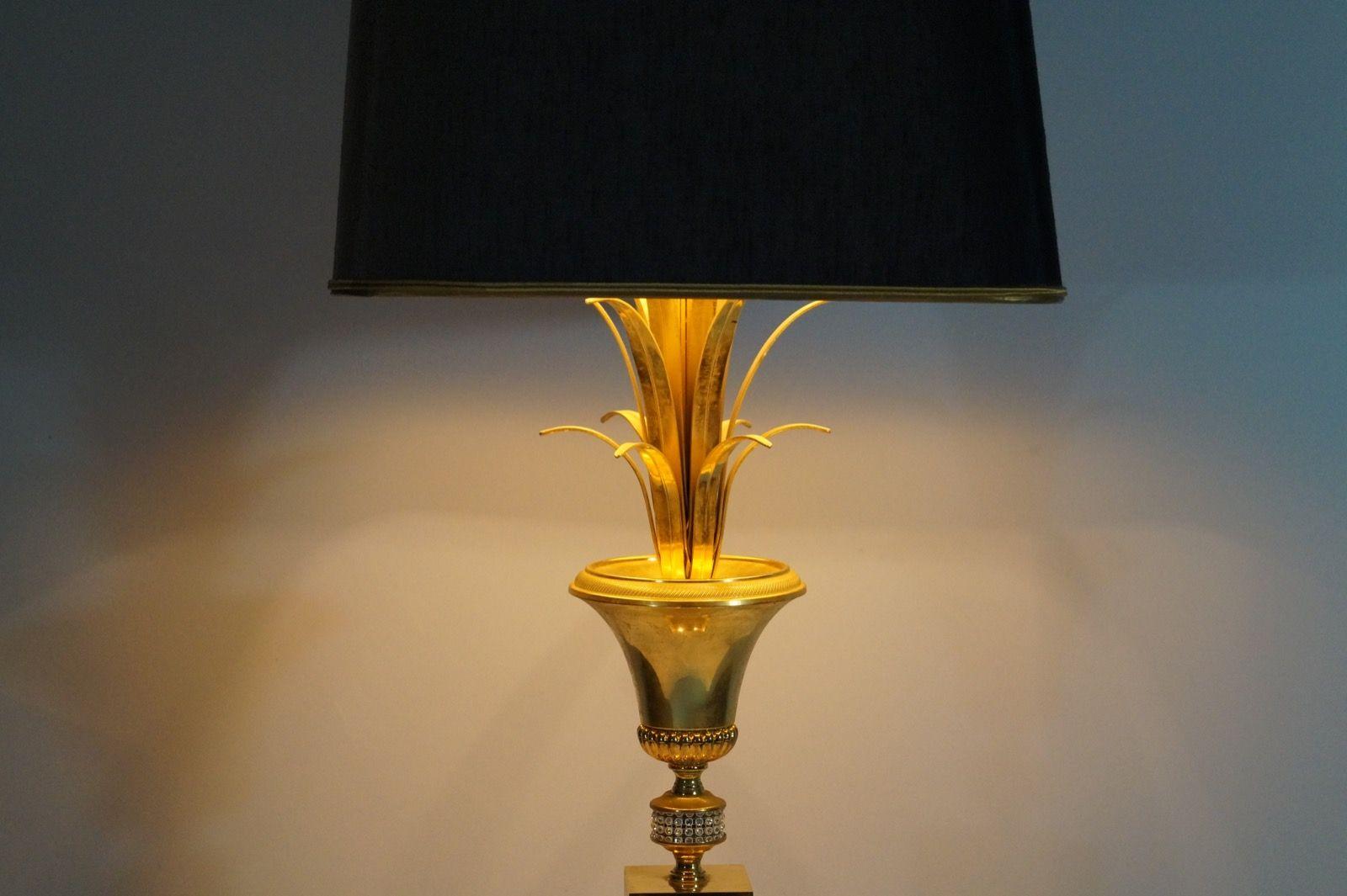 franz sische palmen lampe von maison charles 1970er bei. Black Bedroom Furniture Sets. Home Design Ideas