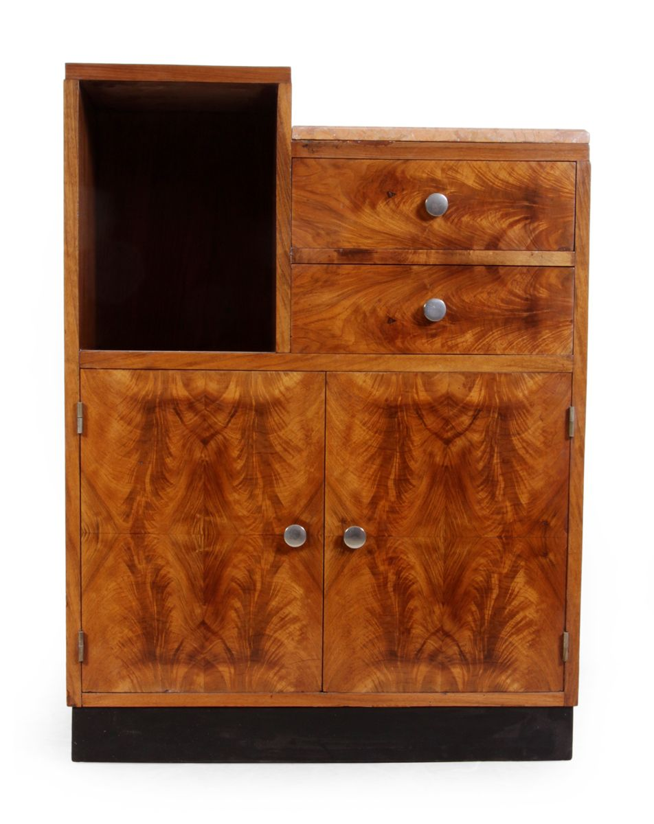 meuble art d co avec dessus en marbre 1920s en vente sur pamono. Black Bedroom Furniture Sets. Home Design Ideas