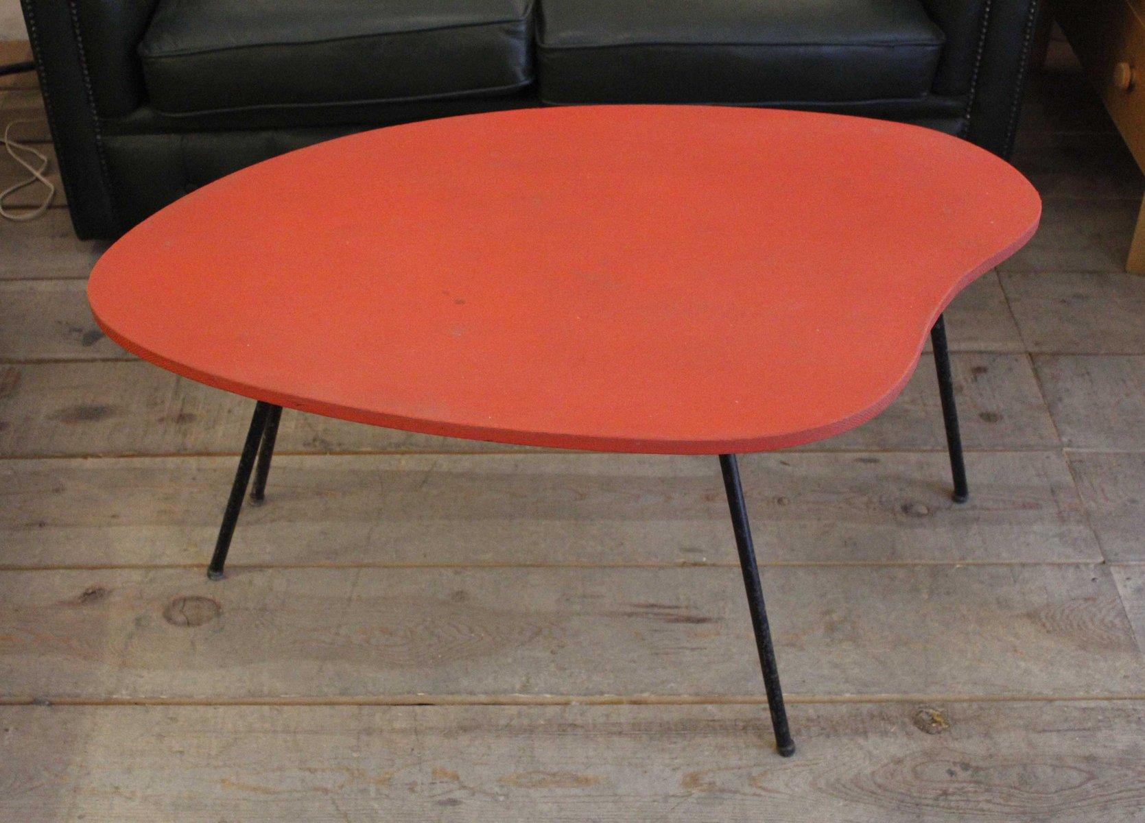 red plastic side table for sale at pamono. Black Bedroom Furniture Sets. Home Design Ideas