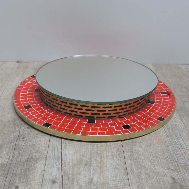 deutscher beleuchteter mosaik spiegel 1950er bei pamono. Black Bedroom Furniture Sets. Home Design Ideas