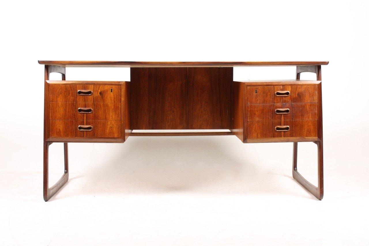 d nischer moderner palisander schreibtisch 1950er bei pamono kaufen. Black Bedroom Furniture Sets. Home Design Ideas