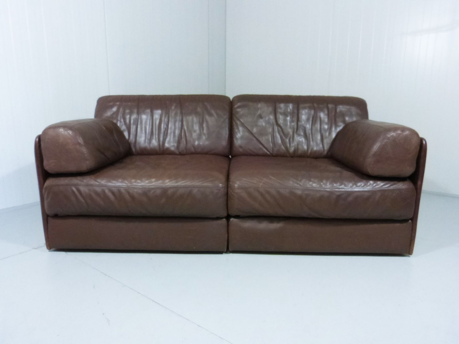 ds 76 brown leather sofa bed from de sede 1970s for. Black Bedroom Furniture Sets. Home Design Ideas