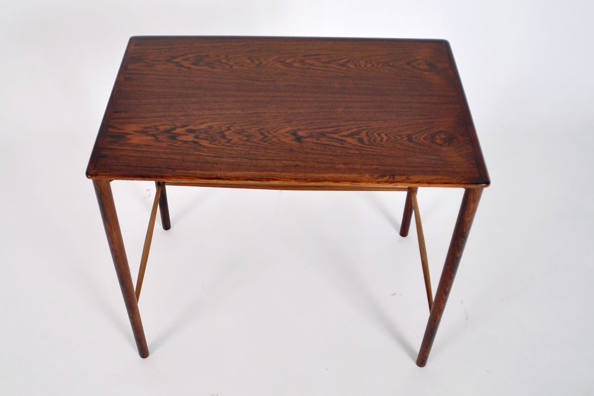rosewood side table by grete jalk for p jeppesen 1950 for sale
