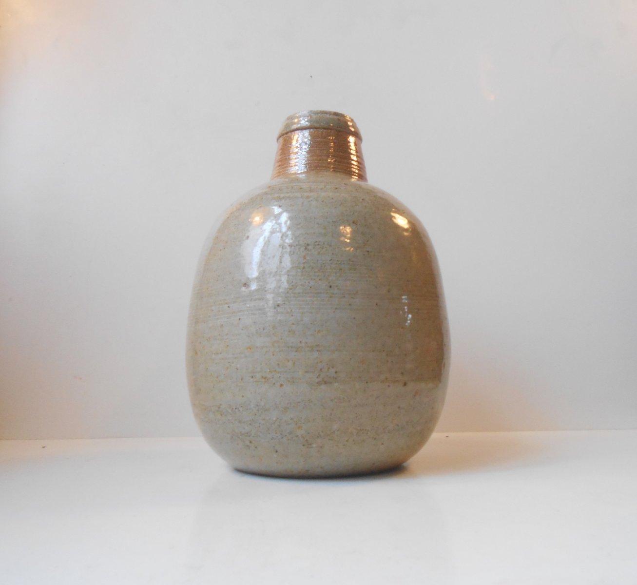 gro e steingut vase von niels kahler f r hak 1970er bei. Black Bedroom Furniture Sets. Home Design Ideas
