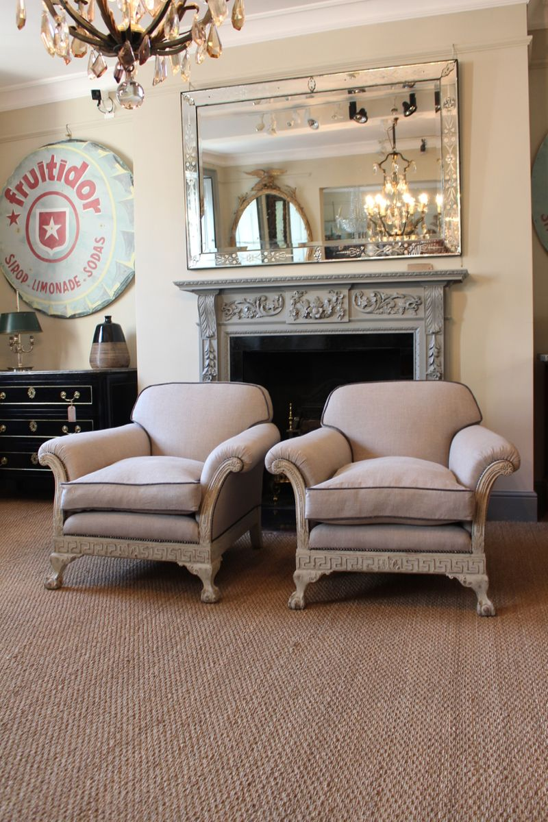 antike englische landhaus sessel 2er set bei pamono kaufen. Black Bedroom Furniture Sets. Home Design Ideas