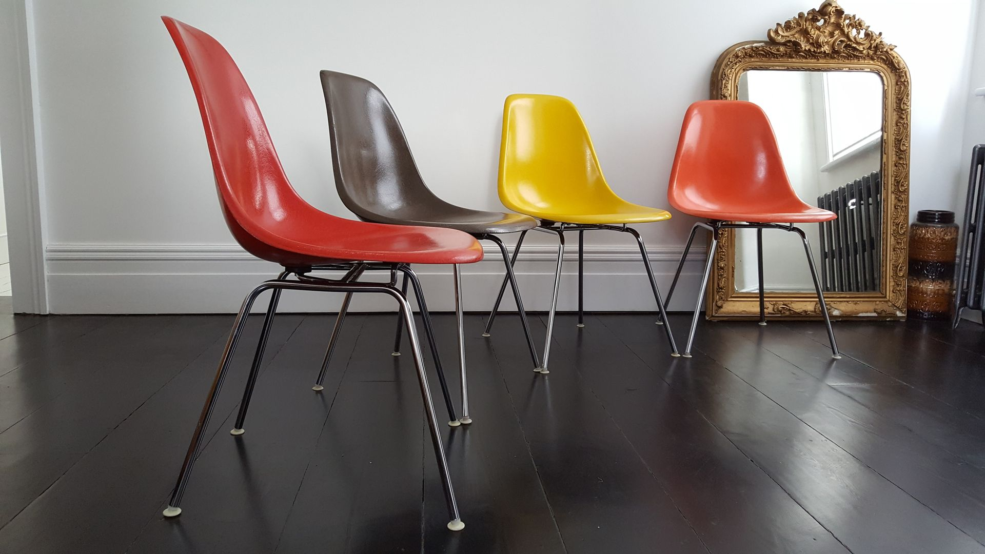 DSX Fiberglass Chairs by Charles & Ray Eames for Herman Miller