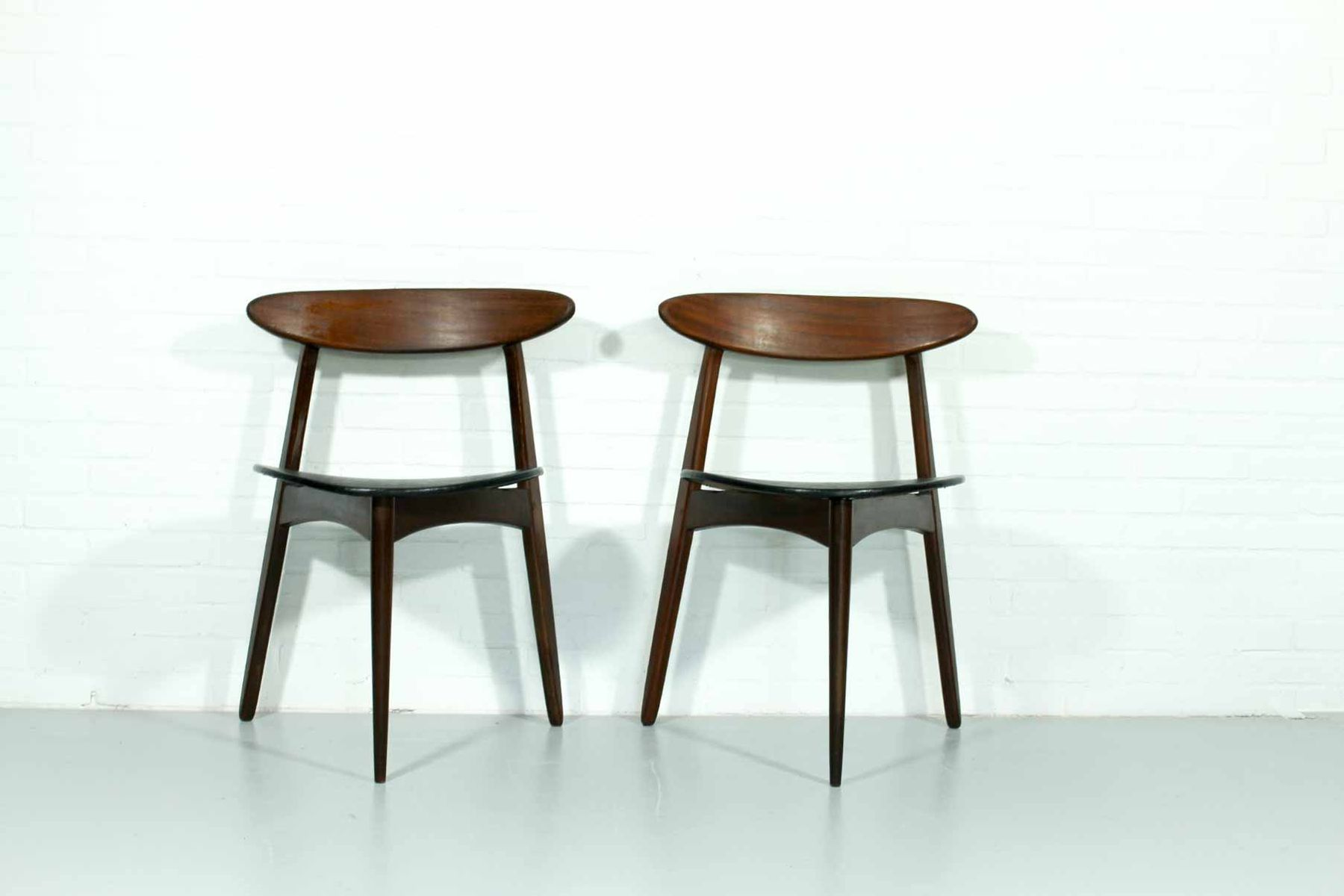 Mid Century Danish Dining Chairs Set Of 2 For Sale At Pamono